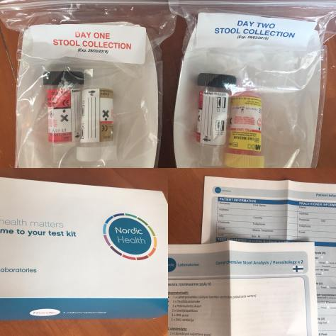 Kollaasi test kit